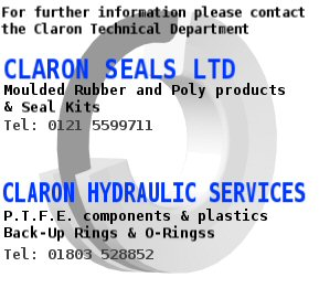 For further information please consult the Claron Technical Department